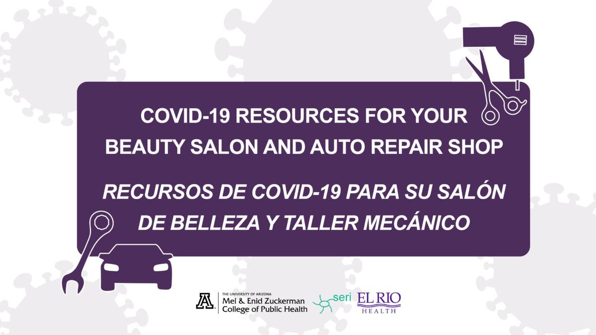 Reciba recursos de COVID-19 para su salón de belleza y taller mecánico