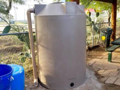Rainwater harvesting cistern